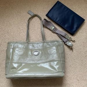 Coach leather baby bag